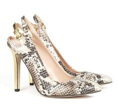 9f67732a063 SlingBack Snake Skin Pumps  WooHoo There giving a Free 52 dollar Smashbox  Gift With Every Order