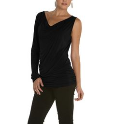Try our flattering one shoulder tunic for a eye catching style this season