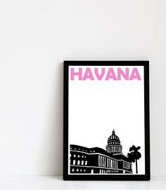 Havana  Print  8x11 A4 size by Pomalia on Etsy, $17.00