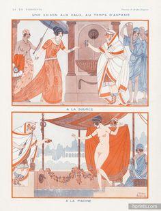 Joseph Kuhn-Régnier (1873 – 1940). Une Saison aux Eaux, au Temps d'Aspasie. La Vie Parisienne, 1923. [Pinned 25-ix-2015]