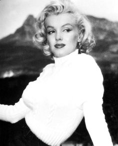 "Marilyn in Canada during the filming of ""River of No Return"". Photo by John…"
