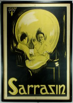 Sarrazin The Magician Original 1920s Magic Poster Magicians Magic Poster