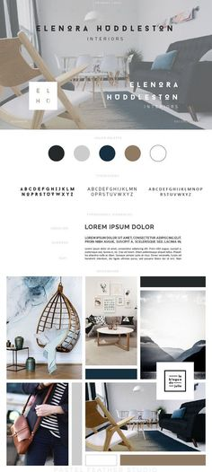 Gorgeous branding for interior designer. Love the use of her go-to tones in the color palette
