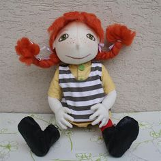 Handmade doll Pippi Longstocking http://monahtoys.blogspot.sk/