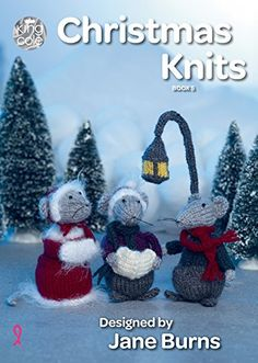 40 Christmas Knitting Patterns for Beginner Knitters to Experts King Cole Christmas Knits Book 5 – Baubles Tea Cosy Cutlery Holder Garland Wreath Toy Mice & Penguin Christmas Tree Baubles, Christmas Crafts, Christmas Items, Christmas Knitting Patterns, Crochet Patterns, Tea Cosy Knitting Pattern, Crochet Mouse, King Cole, Knitting Books