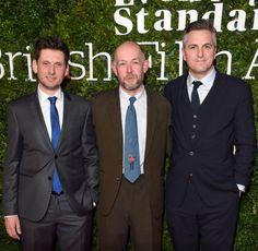 """ Laurence Rickard, Richard Bracewell and Ben Willbond attend the London Evening Standard British Film Awards on February 7, 2016 """