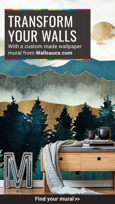 Stunning Forest Mist wall mural from Wallsauce. This high quality Forest Mist wallpaper is custom made to your dimensions. Once you install this amazing wallpaper, your home will certainly be magazine-interview worthy! Decorate your walls with no-fuss peel and stick wallpaper for a temporary look or damage-free wall. Discover more from Wallsauce! #wallpaper #homedecor #accentwall Bold Wallpaper, Kids Wallpaper, Peel And Stick Wallpaper, Photo Wallpaper, Wallpaper Murals, Amazing Wallpaper, Custom Wallpaper, Custom Wall Murals, Landscape Wallpaper