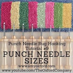 Oxford Punch Needles come in 8 different sizes. Oxford Punch Needles come in 8 different sizes. Crazy Quilting, Embroidery Needles, Embroidery Patterns, Knitting Needles, Diy Embroidery, Knitting Stitches, Couture Main, Bordados Tambour, Hook Punch