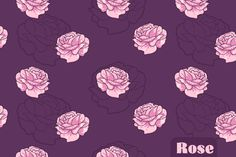 Free Rose Seamless Vector Pattern