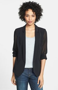 Halogen® Open Front Jacket (Petite) available at #Nordstrom