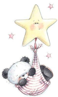 New Ideas For Baby Drawing Face Sweets Tatty Teddy, Teddy Bear, Panda Love, Cute Panda, Panda Bear, Illustration Mignonne, Cute Illustration, Cute Images, Cute Pictures
