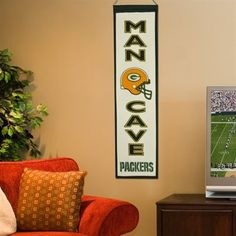 Green Bay Packers Man Cave Banner - Green