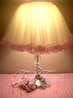 Tutu lamp shade projects pinterest lamp shades tutus and lamps audiocablefo
