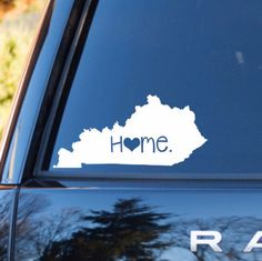 Kentucky Home Decal | Kentucky State Decal | Homestate Decals | Love Sticker | Love Decal  | Car Decal | Car Stickers | Bumper | 057 by MMVinylCreations on Etsy https://www.etsy.com/listing/254164903/kentucky-home-decal-kentucky-state-decal