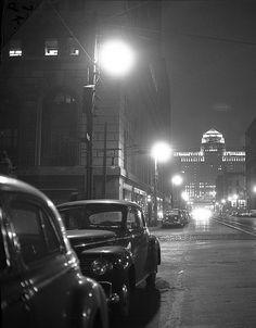 Merchandise Market at night in Chicago, 1946