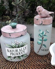 Diy Tumblr, Bottle Art, Glass Bottles, Margarita, Terracotta, Decoupage, Diy And Crafts, Mason Jars, Recycling