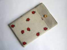 Linen ladybirds MacBook Air 11 sleeve with pockets by LinenSleeve, $22.00 Macbook Air 11, Pockets, Random, Trending Outfits, Cover, Unique Jewelry, Handmade Gifts, Sleeves, Etsy