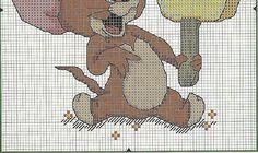 Solo Patrones Punto Cruz Tom and Jerry Cross Stitch For Kids, Just Cross Stitch, Cross Stitch Animals, Felt Embroidery, Cross Stitch Embroidery, Cross Stitch Designs, Cross Stitch Patterns, Tom Et Jerry, Tom And Jerry Cartoon