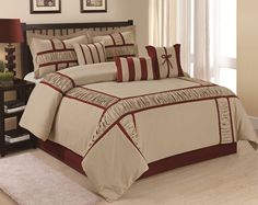 7 Piece MARMA Ruffle & Patchwork Comforter Sets Taupe. Starting at $52