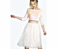701cb548b4 boohoo Keely Iridescent Pleated Midi Skirt - silver Steal the spotlight  this season in micro minis
