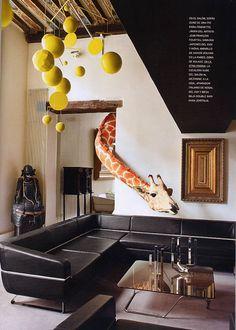 salón del hogar parisino del diseñador Ora Ïto -Spanish AD. May edition.