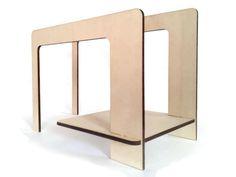 Portariviste minimal in legno di DigitalHandmade su DaWanda.com