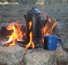 Now that's a good looking pot of coffee. How to Make Cowboy Coffee.