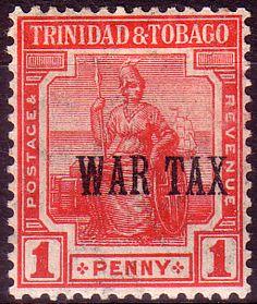 Trinidad and Tobago 1917 WAR TAX Overprint SG 176 Fine Mint Scott MR1  Other Trinidad and Tobago Stamps HERE