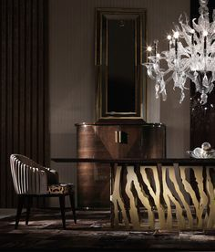 In the exclusive world of luxury dining design, let´s check out 15 of the luxurious italian dining tables you need to see. Table Top Design, Dining Table Design, Modern Dining Table, Dinning Table, Coffee Table Design, Wood Table, Console Table, Home Modern, Modern Luxury