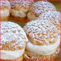 Paris-Brest version Philippe Conticini - will need to convert to English Eclairs, Gourmet Recipes, Sweet Recipes, Dessert Recipes, Cooking Recipes, Paris Brest, Chefs, French Patisserie, Choux Pastry