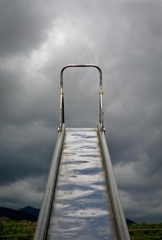 Scorching hot metal slides. Can still feel the burn on the back of my legs.