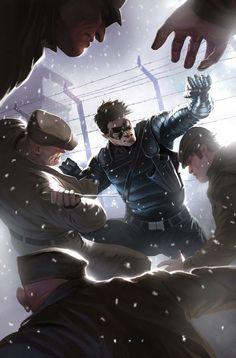 """Winter Soilder (James Buchanan """"Bucky"""" Barnes) - visit to grab an unforgettable cool 3D Super Hero T-Shirt!"""