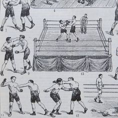 Vintage French Boxing Print