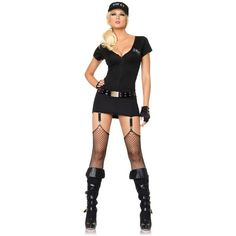 Sexy Swat Womens Commander Costume ($30) ❤ liked on Polyvore featuring costumes, halloween costumes, multicolor, adult ladies halloween costumes, adult halloween costumes, sexy lady costumes, ladies halloween costumes and leg avenue halloween costumes