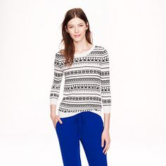 J.Crew - Pre-order Merino Tippi sweater in geometric stripe