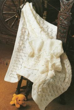 Knitting Pattern Baby Shawl Matinee Coat and Bootees