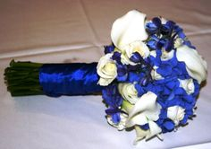 Blue Hydrangea And White Calla Bouquet wedding flower bouquet, bridal bouquet, wedding flowers, add pic source on comment and we will update it. www.myfloweraffair.com can create this beautiful wedding flower look.