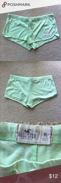 Hollister super soft lounge shorts Light green shorts. Size M. Very soft. Perfect for lounging or as pajama shorts. Excellent condition Hollister Shorts