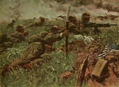 """Battle of Bataan"" Painting by Keinichi Nakamura 1943 Ww2 History, World History, World War, Bataan, Japanese History, War Film, Ww2 Photos, Film Inspiration, Japanese Poster"
