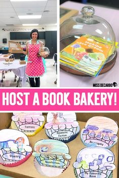 Host a Book Bakery in your classroom to teach students about different reading genres! Your students will love this engaging mini classroom transformation! Teaching Genre, Teaching First Grade, Teaching Reading, Fun Learning, Teaching Art, Learning Activities, Teaching Ideas, Reading Genres, Reading Day