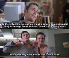 Boondock Saints, only seen the first 30  min of it... but, this scene just stuck with me for some reason as awesome and funny.