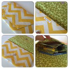 Chevron Summer Clutch Purse by JerseyPeachDesigns on Etsy, $25.00