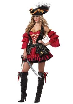 Sexy Spanish Pirate Costume - Women's Pirate Costumes