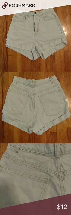 American Apparel High Waist Shorts Second picture shows stain , looks worse in picture tbh American Apparel Shorts