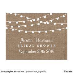 String Lights, Rustic Burlap Bridal Shower Recipe