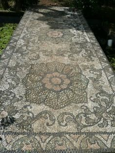 Mosaic Garden Paths | ... from the botanic gardens mosaic path orchids and pitcher plants