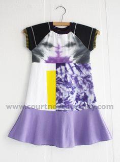 moody purple #courtneycourtney #eco #upcycled #recycled #repurposed #tshirt #vintage #dress #girls #unique #clothing #ooak #designer #upscale  #fashion #tiedye #purple #yellow #art