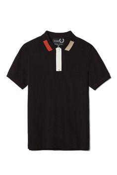 Fred Perry - Raf Simons Colour Block Pique Shirt Black:
