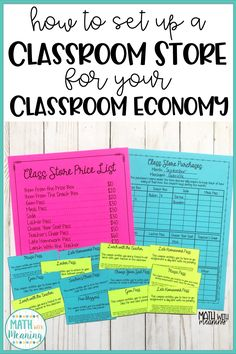Learn how to set up a classroom store run by students for your classroom economy. Learn how to set up a classroom store run by students . Classroom Money System, Classroom Rewards, Classroom Behavior Management, Classroom Jobs, 3rd Grade Classroom, Middle School Classroom, Special Education Classroom, Business Education Classroom, Behavior Plans