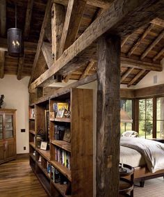 Copyright - Kibo Group Architecture, Inc Little Cabin, Log Cabin Homes, Interior Design Living Room, My Dream Home, House Plans, Sweet Home, Bedrooms, House Design, Decoration